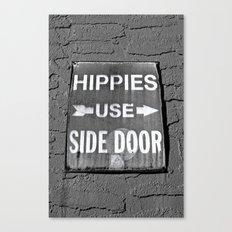 Hippies Use Side Door Canvas Print