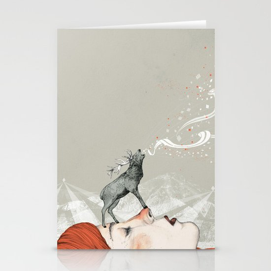 Deer Lady! Stationery Card