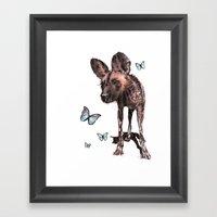 Painted Dog Framed Art Print