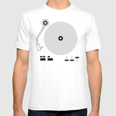 Mix It Up SMALL White Mens Fitted Tee