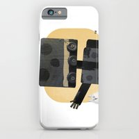 iPhone & iPod Case featuring Happy Robot Happy Cat by David Finley