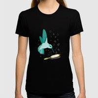 Can You See The Music Womens Fitted Tee Black SMALL