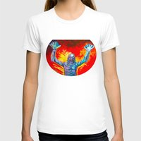 Creature From The Black Lagoon  Womens Fitted Tee White SMALL
