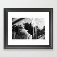 Portrait Through The Car… Framed Art Print