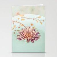 Vintage Flower Floating Stationery Cards