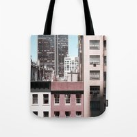 view of NYC from a MoMa window... Tote Bag