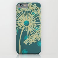 DANDELIONS TURQUOISE iPhone 6 Slim Case