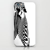Zebra Portrait iPhone 6 Slim Case