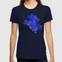 Fly Day Or Night Womens Fitted Tee Navy SMALL