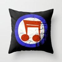 Music Mod Throw Pillow