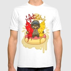Fat Kids White SMALL Mens Fitted Tee