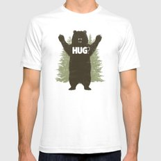 Bear Hug Mens Fitted Tee White SMALL