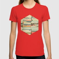Bookworm Womens Fitted Tee Red SMALL