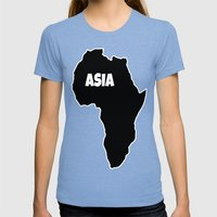 ASIA Womens Fitted Tee Tri-Blue SMALL