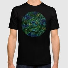 Intricate Nature  SMALL Mens Fitted Tee Black
