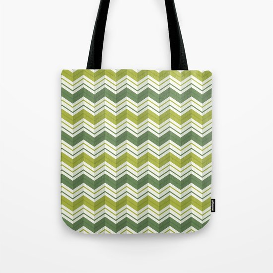 CHEVRON STRIPES - AVOCADO Tote Bag