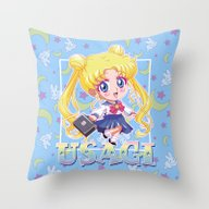 Chibi Usagi Tsukino Throw Pillow