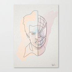 One Line Spiter Parkerman Canvas Print