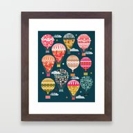 Hot Air Balloons - Retro… Framed Art Print