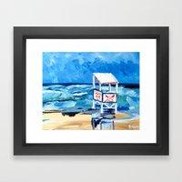 Ocean City Lifeguard Stand Framed Art Print