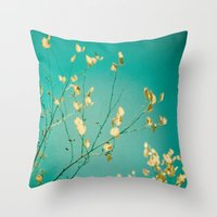 Sweet Little Autumn Leaves Throw Pillow