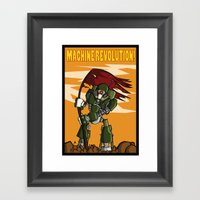 Machine Revolution Framed Art Print
