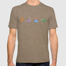 Potty Mouth Dinos Group Mens Fitted Tee Tri-Coffee SMALL