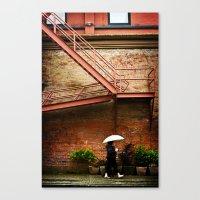 Through A Rainy Lens Canvas Print