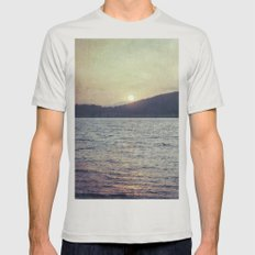 Blue Sunset Mens Fitted Tee Silver SMALL