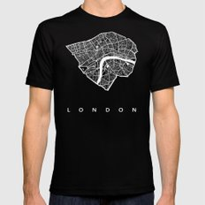 LONDON Mens Fitted Tee Black SMALL