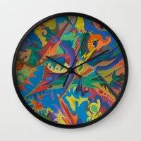 Crazy Dreams of Colour  Wall Clock