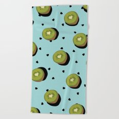 Kiwi Fruit Beach Towel