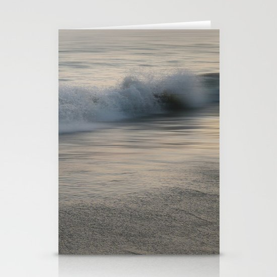Misty Morning At Sea Stationery Card
