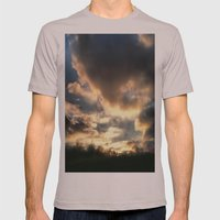 Clouds on Fire Mens Fitted Tee Cinder SMALL