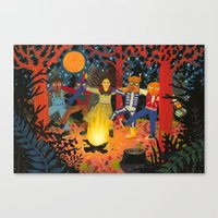 The Spirits of Autumn Canvas Print
