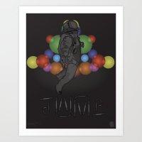STEALTH JUMPMAN Art Print
