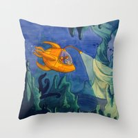 Deep Sea Adventure Throw Pillow