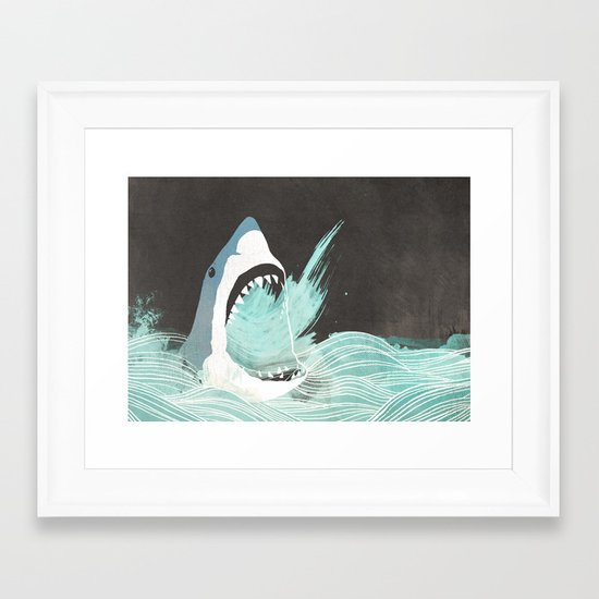 Great White Framed Art Print