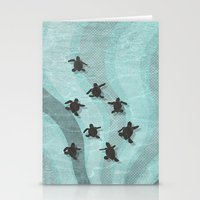 Loggerhead Sea Turtle Ha… Stationery Cards