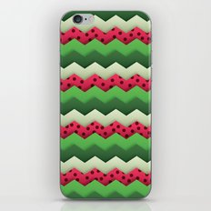 Watermelon Chevron iPhone & iPod Skin