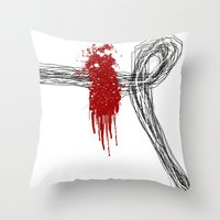 Blood On The Outside Throw Pillow
