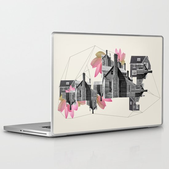 Filled with city Laptop & iPad Skin