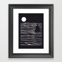 Scary monster! Framed Art Print