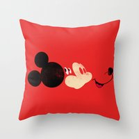 Deconstructing Mickey Throw Pillow