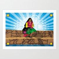 Paisana In Titicaca Lake… Art Print