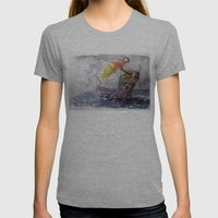 Umbrella Man Womens Fitted Tee Athletic Grey SMALL