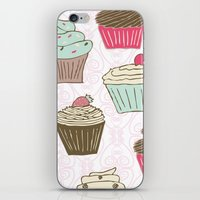 Cupcakes Curly iPhone & iPod Skin