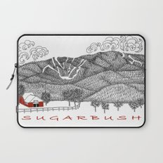 Sugarbush Vermont Serious Fun for Skiers- Zentangle Illustration Laptop Sleeve