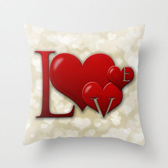 Love! Love! Love!  Throw Pillow