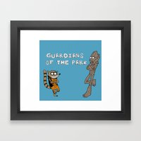 Guardians Of The Park Framed Art Print